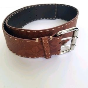 "Celine belt brown made in italy measures 36.5""long"